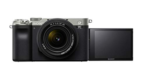 Sony Alpha ILCE-7C with 28-60mm Zoom Lens (Compact Full Frame Camera, 4K, Flip Screen, Light Weight, Real time Tracking, Content Creation)